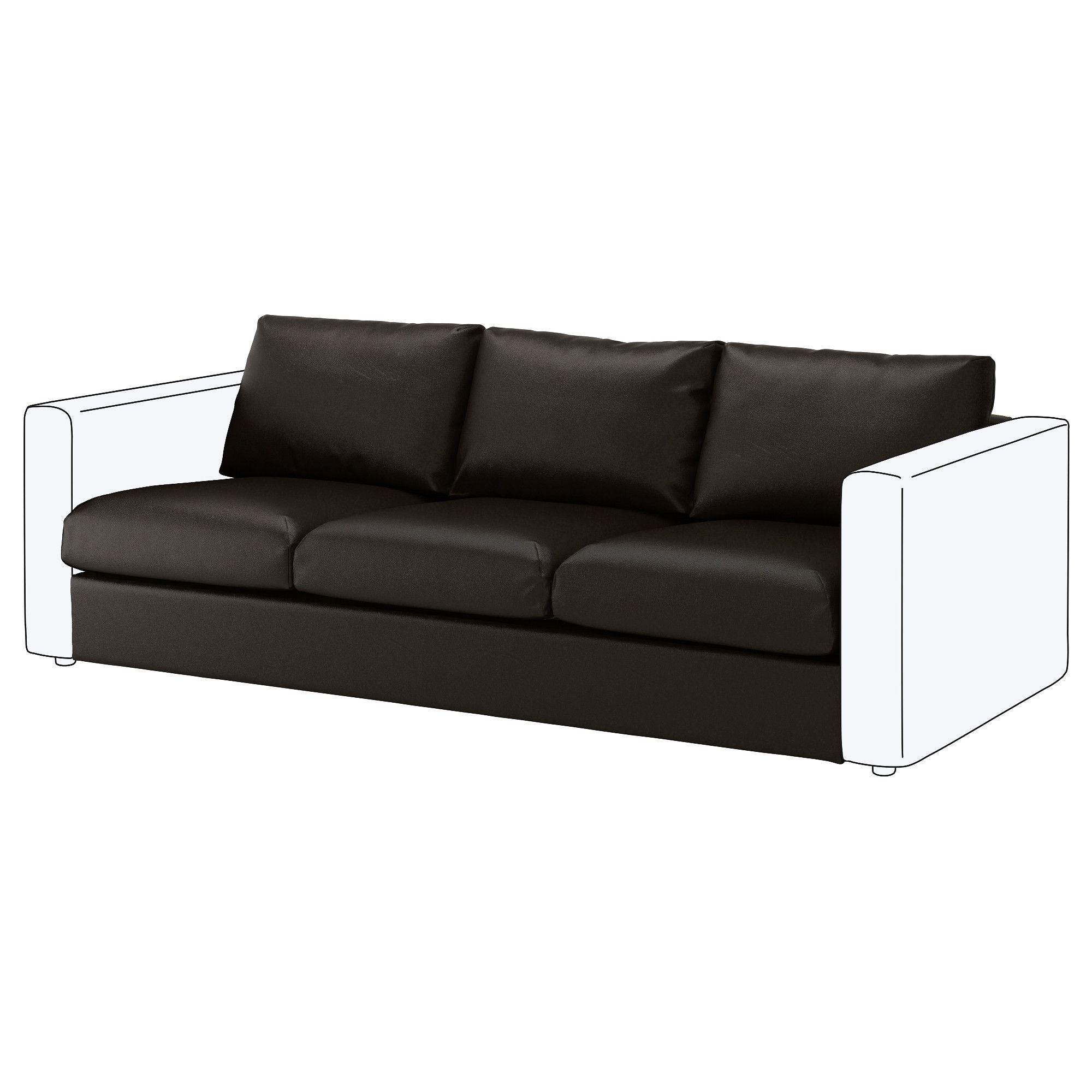 Vimle Sitzelement 3 Farsta Schwarz Modulares Sofa Ledersofa Schwarz Und Ikea