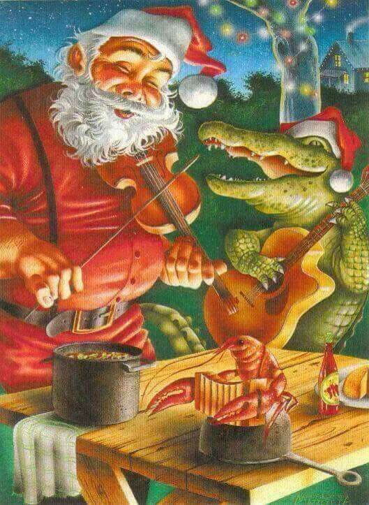 Merry Christmas To All Of Our Family And Friends Louisiana Art Cajun Night Before Christmas New Orleans Christmas