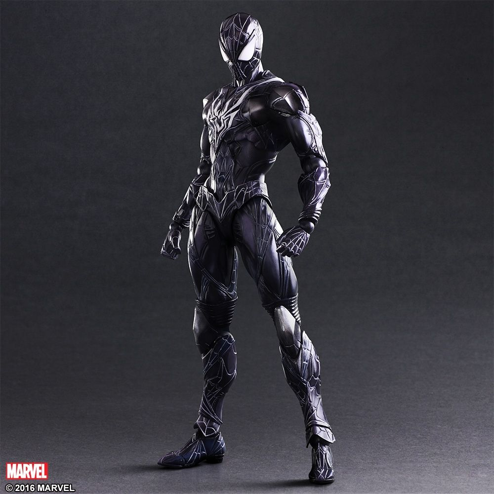black suit spider-man play arts kai figure coming soon | venom