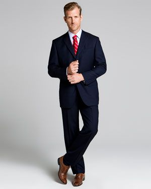 Brooks brothers navy 3 button suit love the british tan shoes my style pinterest tan shoes - Brooks brothers corporate office ...