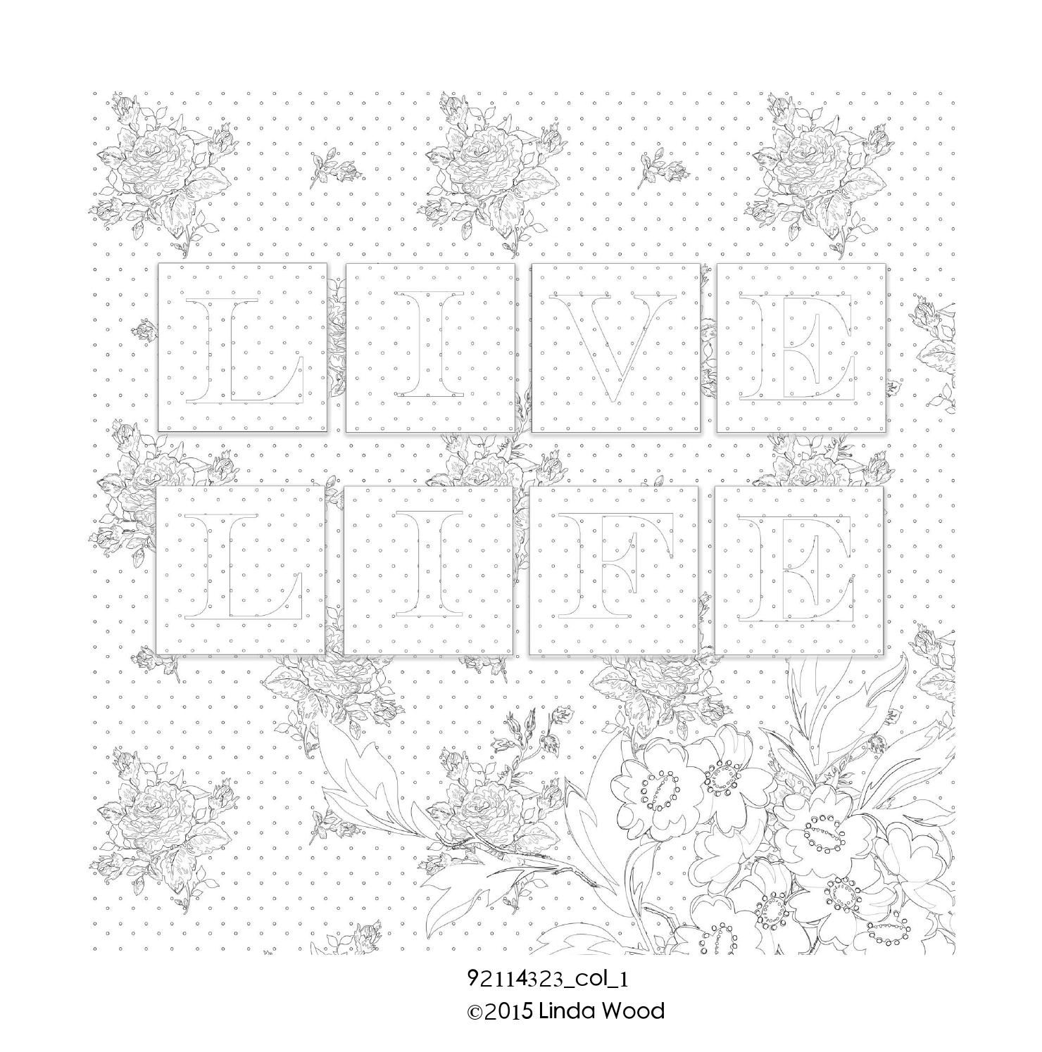 Flowers and pattern linda wood colouring book the oujays flower