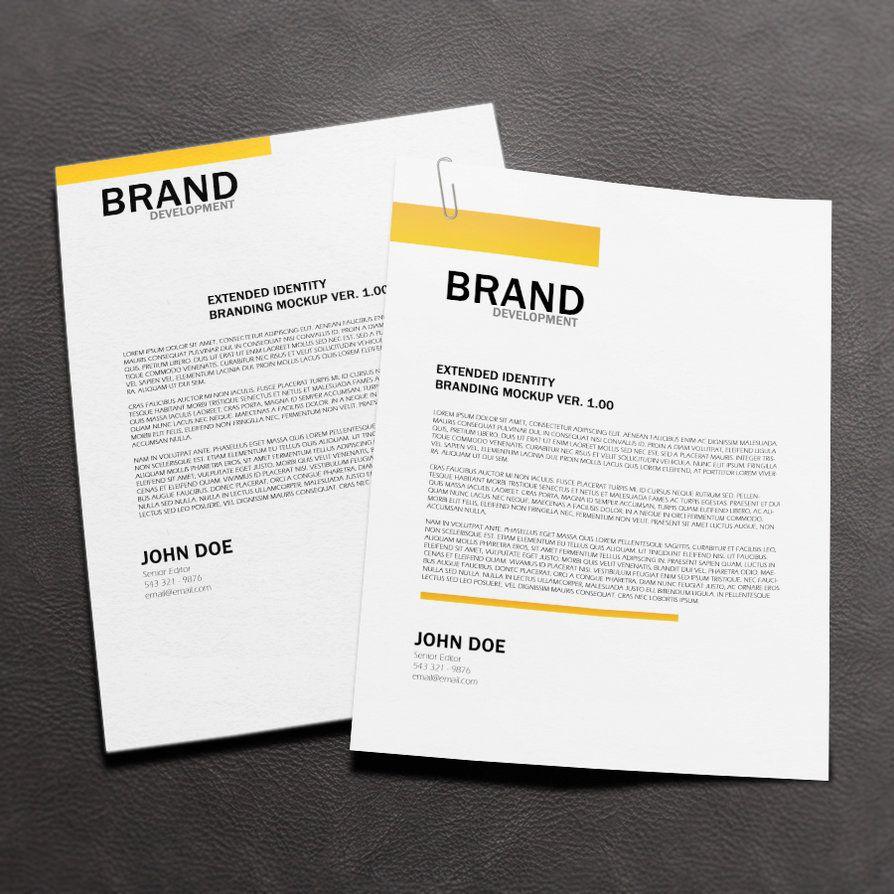 free letterhead mock up by macrochromatic design templates
