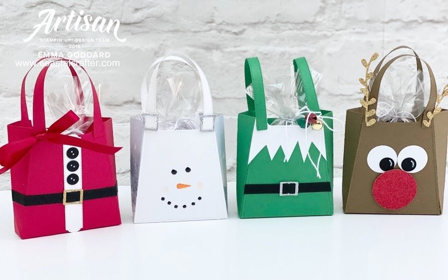 Holiday bags using the Dressed to Impress dies in 2020