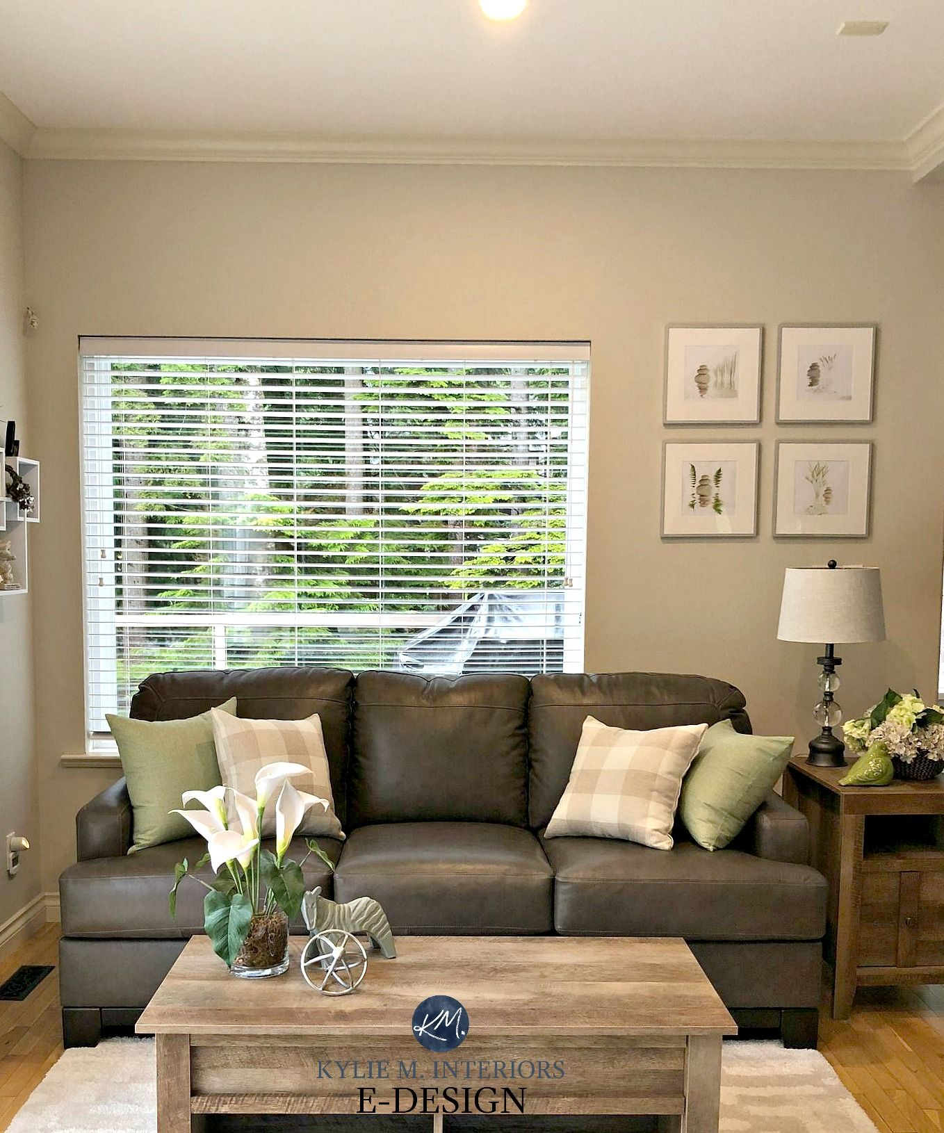 An E Design With Edgecomb Gray The Best Greige Paint Colour Kylie M Interiors Greige Living Room Brown Living Room Decor Living Room Grey