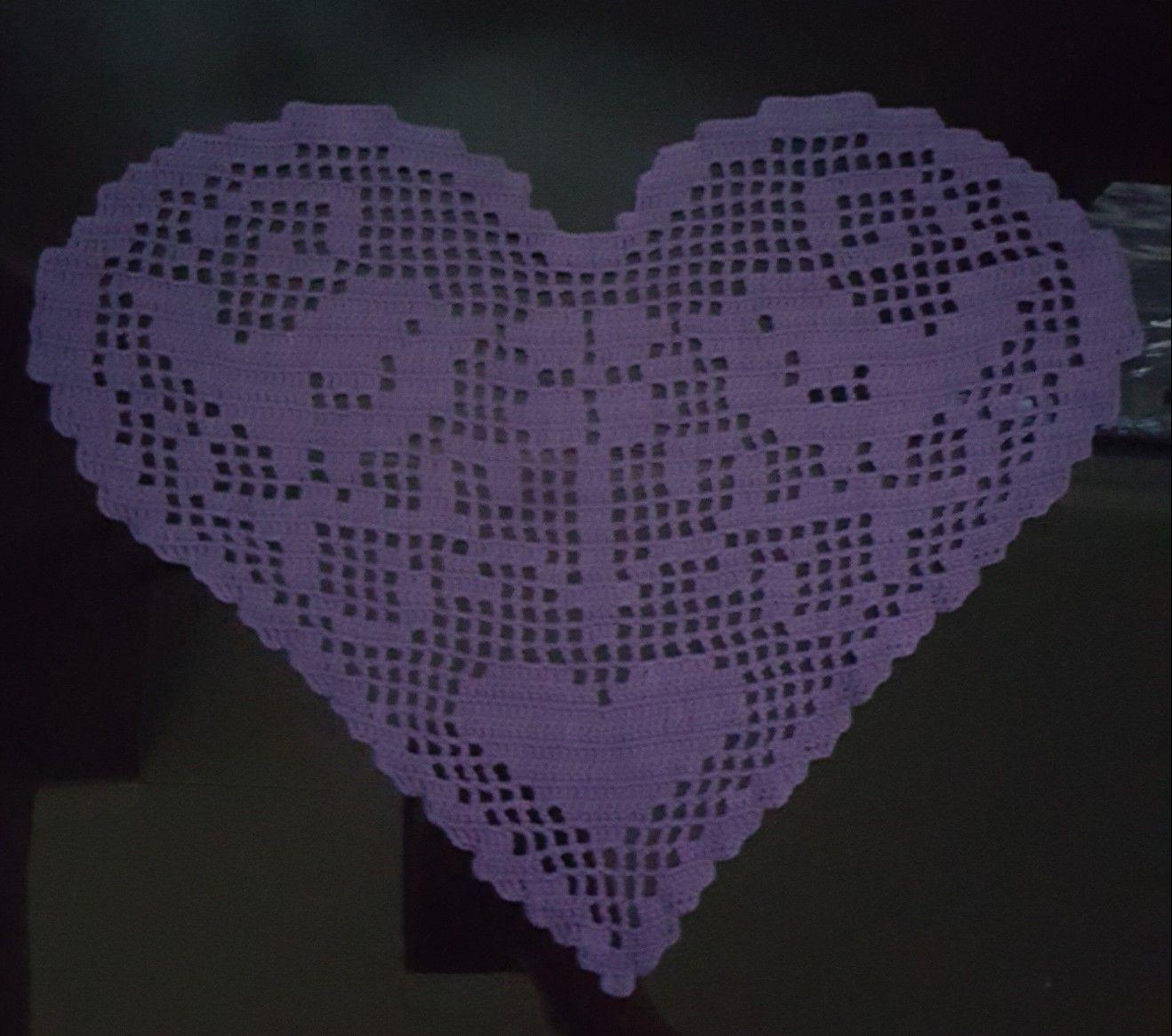 Filetcrochet heart 💜