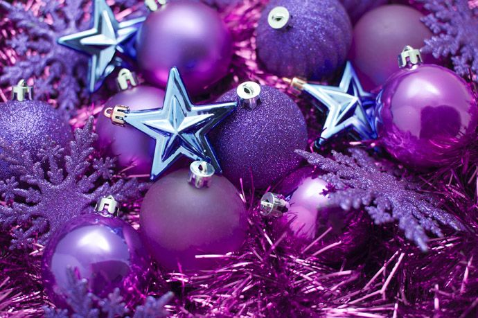 30 vibrant purple christmas decorations - Purple Christmas Decorations