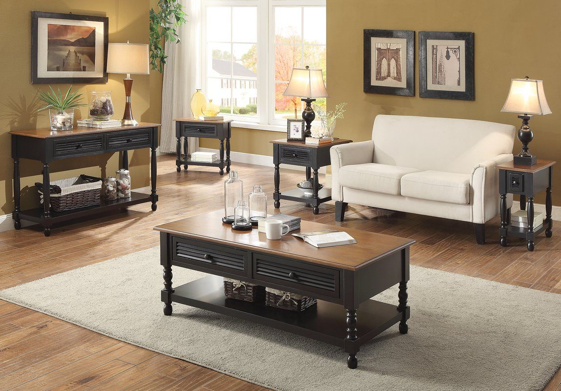 Hermila Compact Coffee Table 4 Piece Coffee Table Set Coffee Table Rectangle Home