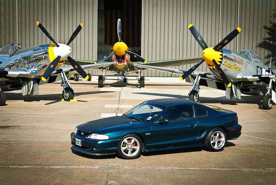 My 95 gt and 2 p-51and a p-40