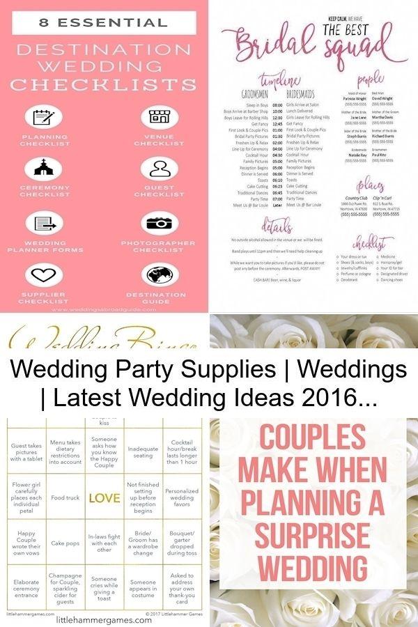 Wedding Party Supplies | Weddings | Latest Wedding Ideas 2016