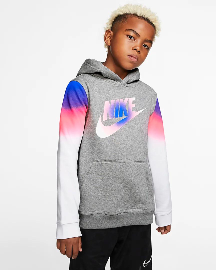 Nike Sportswear Club Big Kids Boys Pullover Hoodie Nike Com Boys Pullovers Boys Hoodies Boy S Clothing [ 1080 x 864 Pixel ]