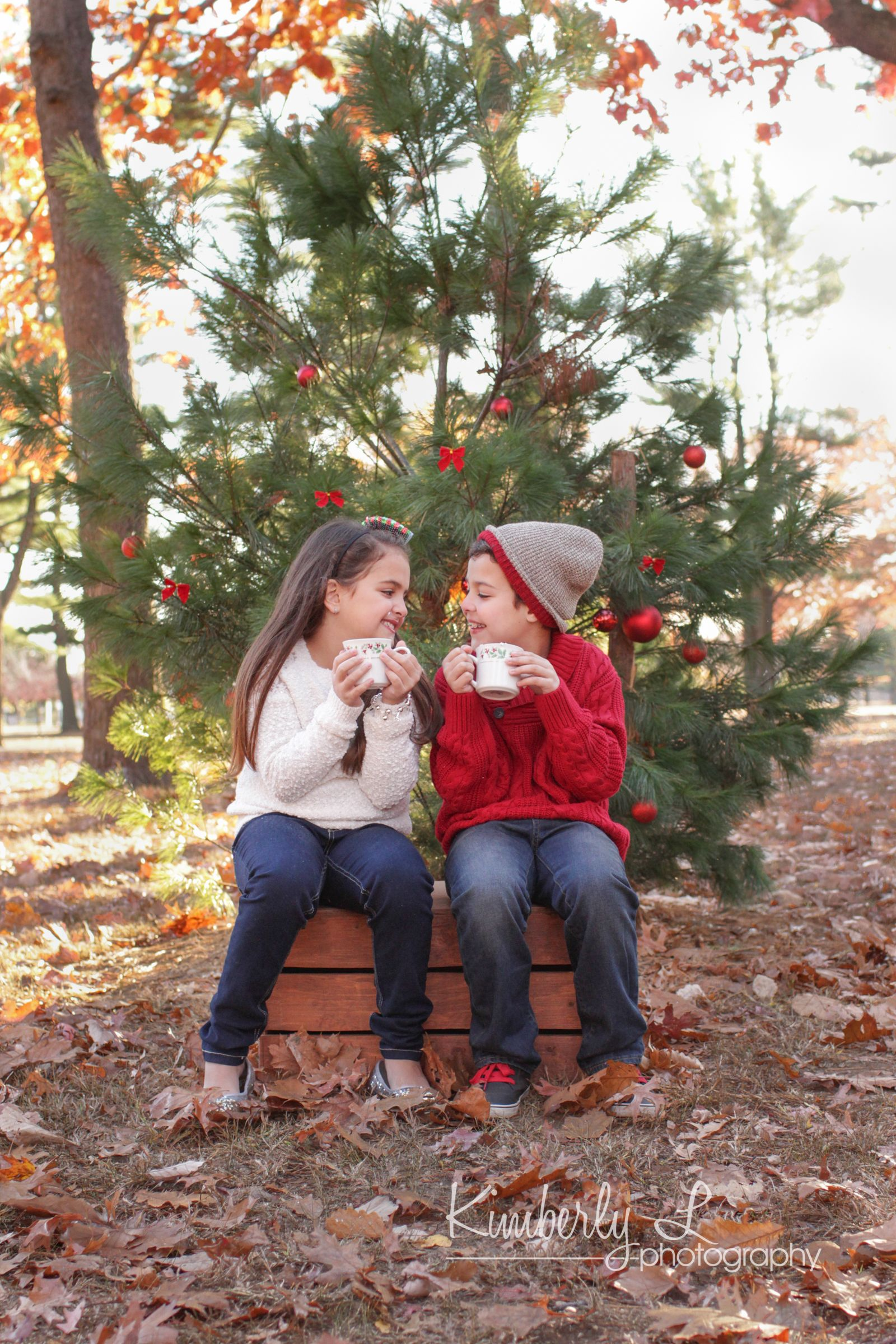 Long Island Child Family Photographer Christmas Photography Outdoor Christmas Photos Family Christmas Pictures