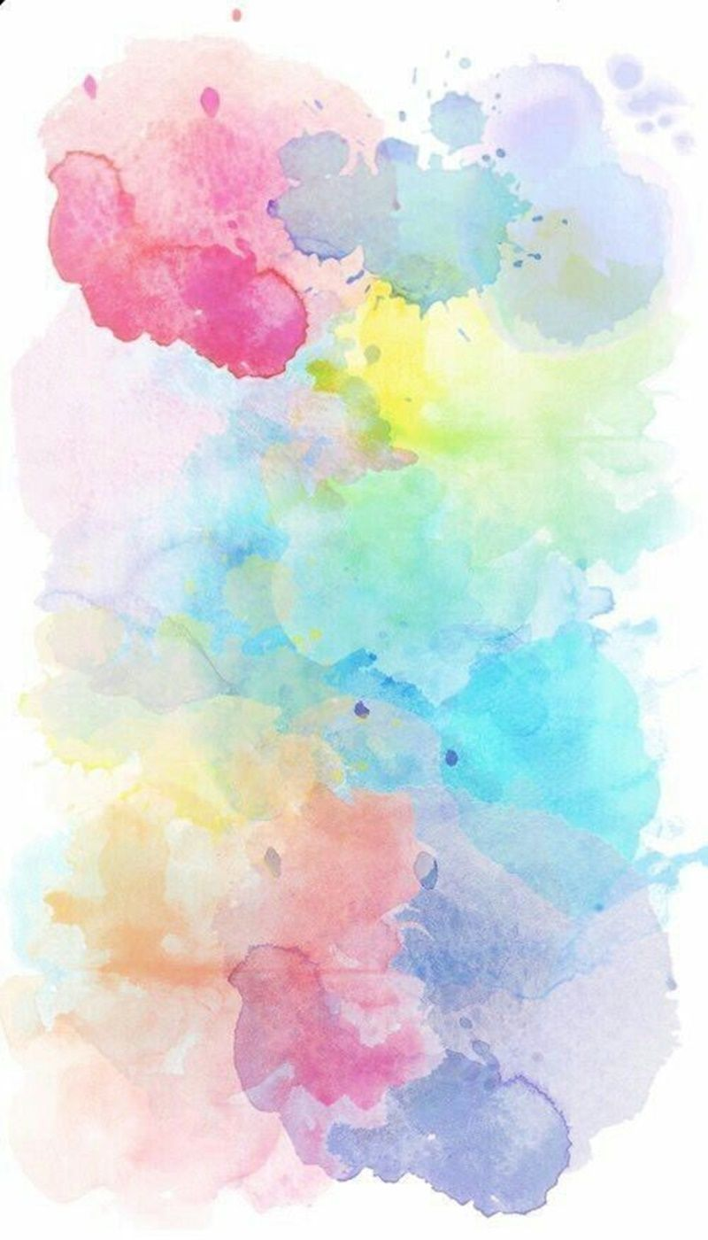 Pintura en acuarela de diferentes colores