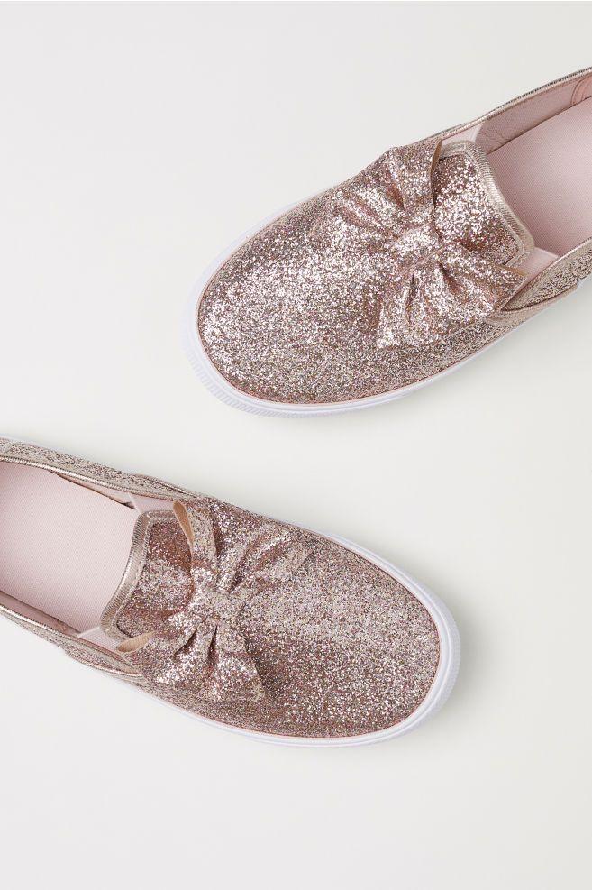 4bb0d8bfabc0 Slip-on Shoes - Light pink glitter - Kids