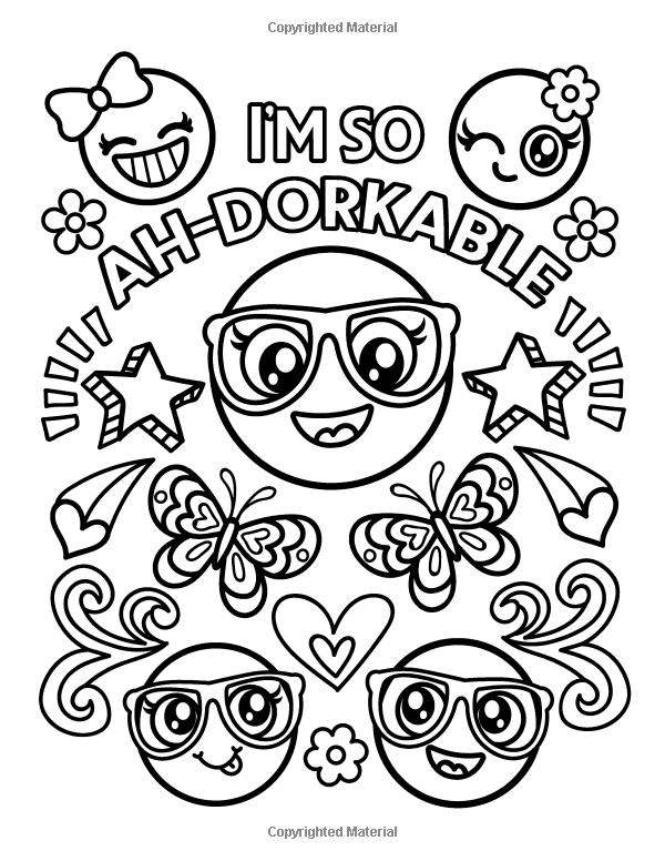 Amazon Com Emoji Coloring Book For Girls Of Funny Stuff Inspirational Quotes Super Coloring Pages Inspirational Quote Coloring Pages Emoji Coloring Pages