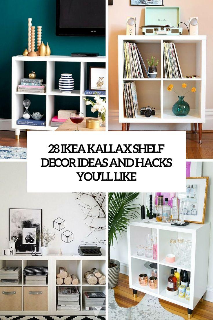 28 ikea kallax shelf décor ideas and hacks you'll like (digsdigs