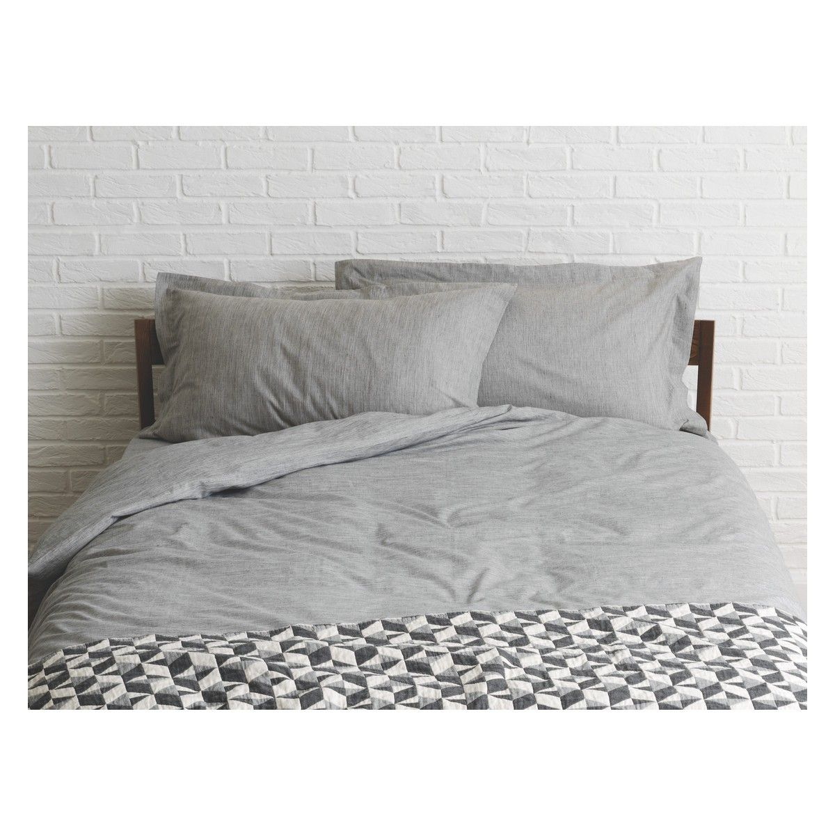Skye Grey Egyptian Cotton Kingsize Duvet Cover Now At Habitat Uk