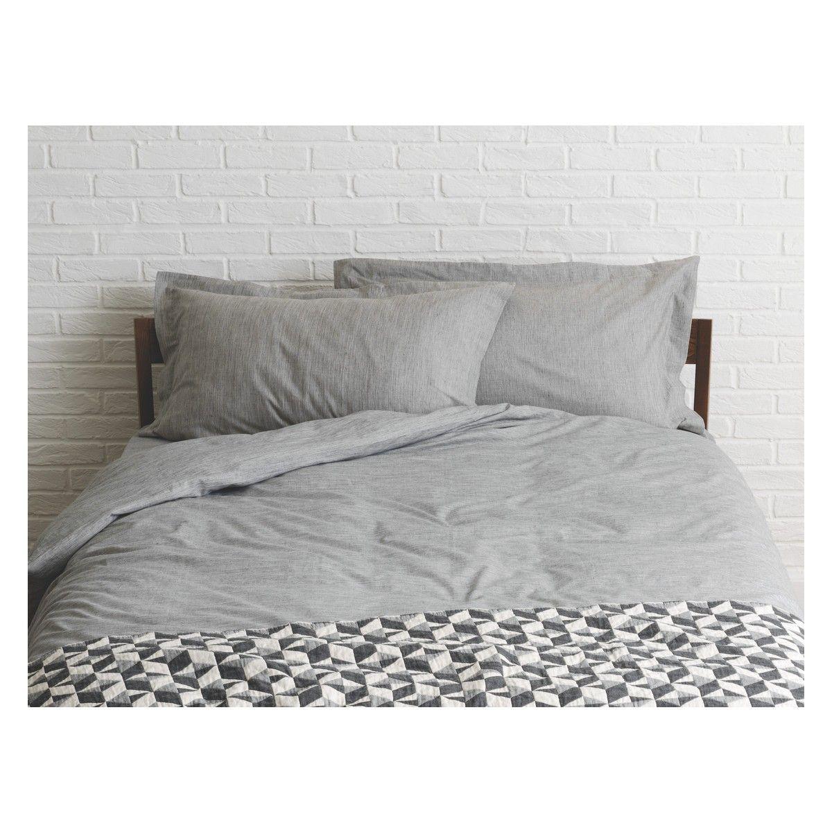 Skye Grey Egyptian Cotton Kingsize Duvet Cover Now At Habitat Uk