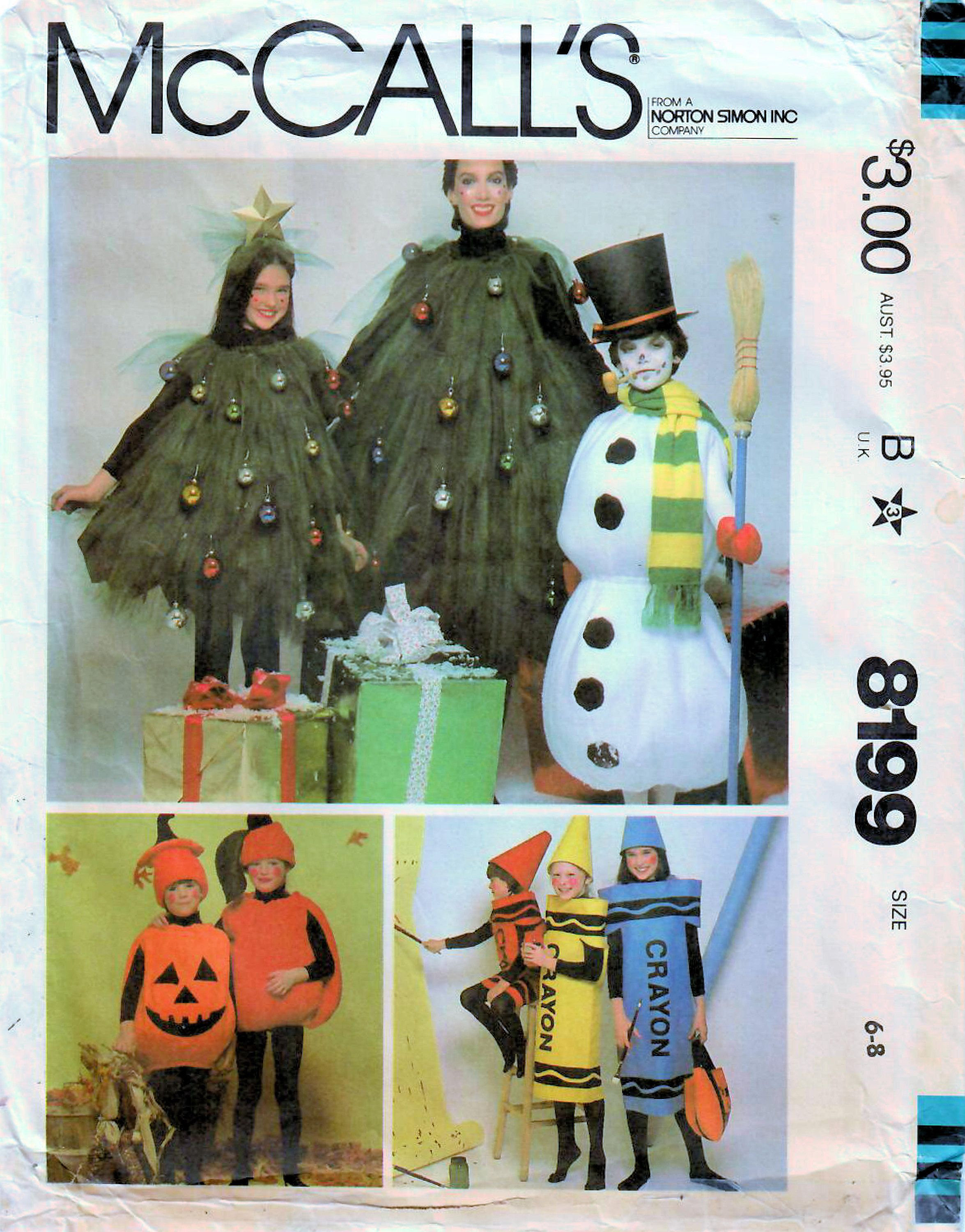 Sew These Inspired Costumes From The Early 1980s Jack O Lantern Apple Cray In 2020 Christmas Tree Costume Halloween Costume Sewing Patterns Mccalls Sewing Patterns
