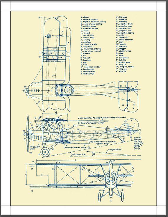 Aviation blueprints poster 17x22 wall decor fine art aviation aviation blueprints poster 17x22 wall decor fine art malvernweather Image collections