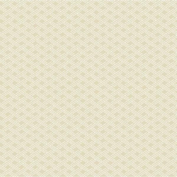 Chesapeake Sweetgrass Beige Lattice Wallpaper Sample