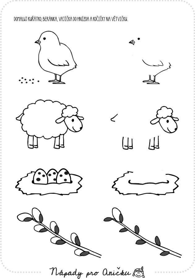 Velikonoce | Worksheets, Kindergarten worksheets, Relatable