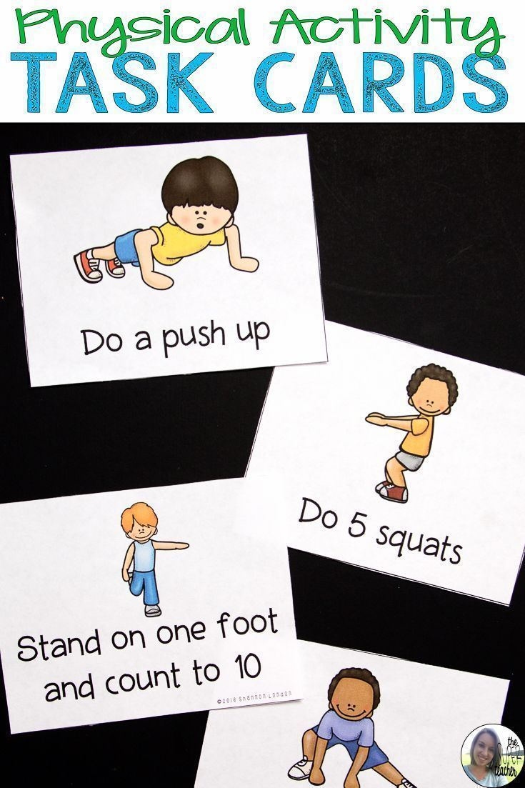 Physical Activity Cards - Exercise Cards   Pinterest   Brain breaks ...