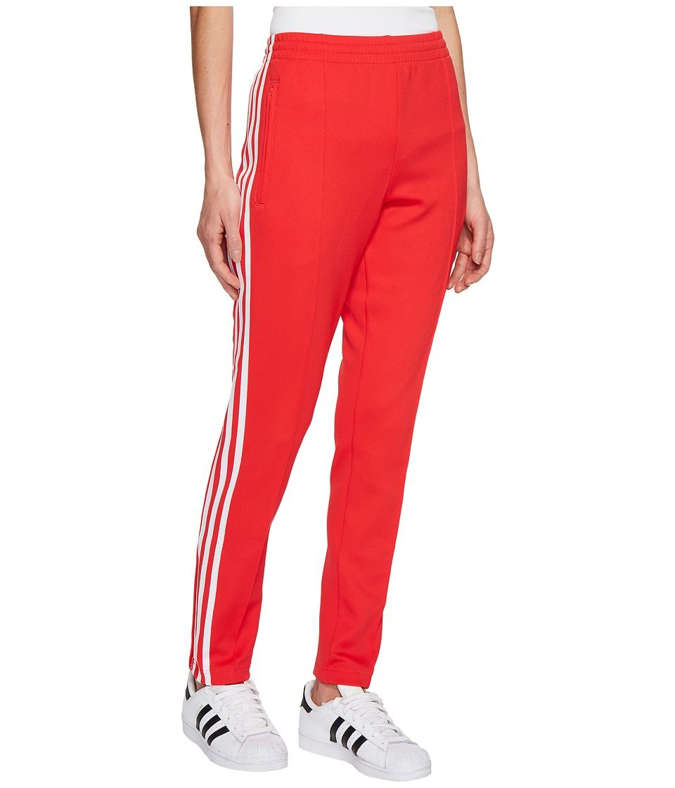 adidas Originals SST Track Pants Women's Workout Radiant Red