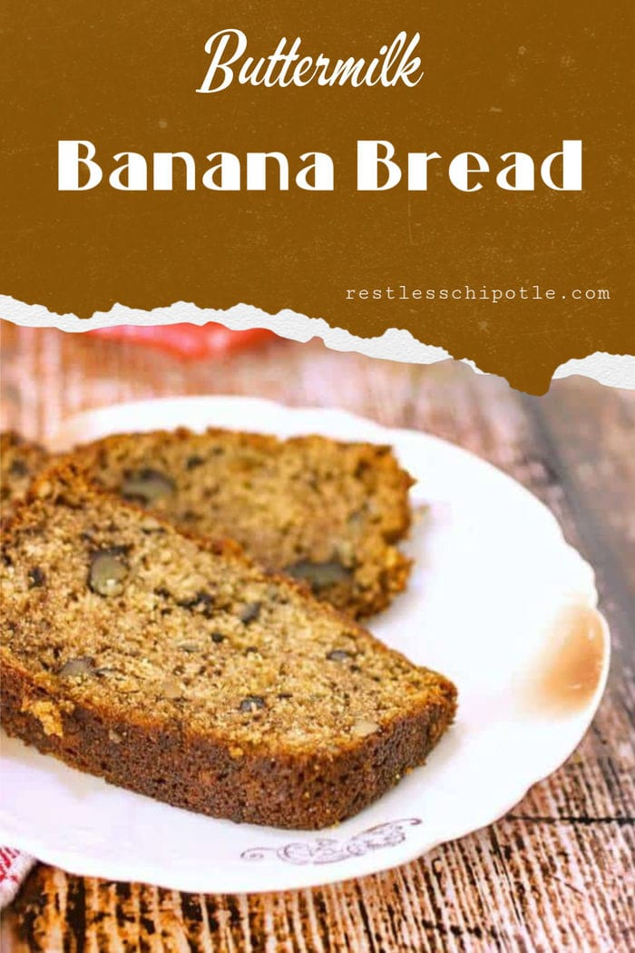 Grandma S Buttermilk Banana Bread Recipe In 2020 Buttermilk Banana Bread Banana Recipes Honey Recipes