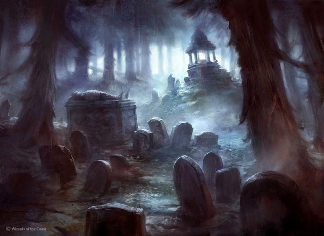 Cemitério Pantanoso Assombrado. Por Adam Paquette. (Ascensão das Trevas - Incomum).