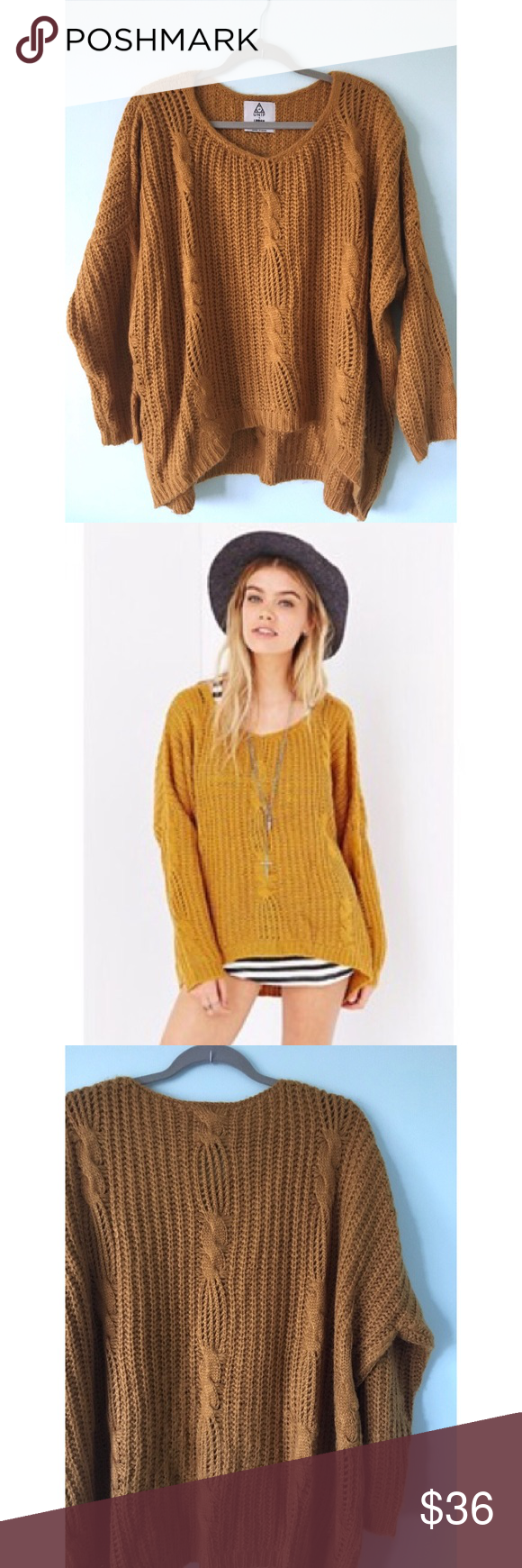 Mustard Yellow Cable Knit Sweater | Mustard yellow, Baggy sweaters ...