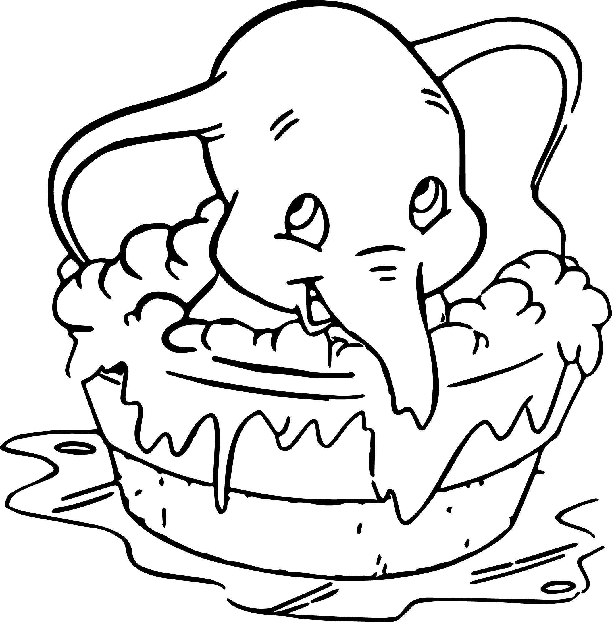 Disney Dumbo Elephant Coloring Pages  Elephant coloring page