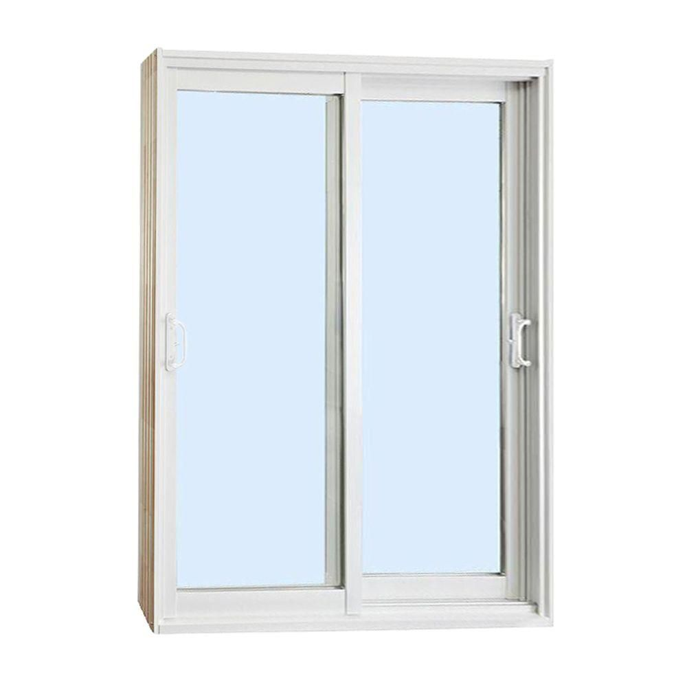 Stanley Doors 60 In X 80 In Double Sliding Patio Door Clear Low E 500001 The Home Depot Sliding Patio Doors Double Sliding Patio Doors Stanley Doors
