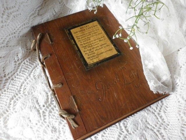 Antiek Engels gastenboekje