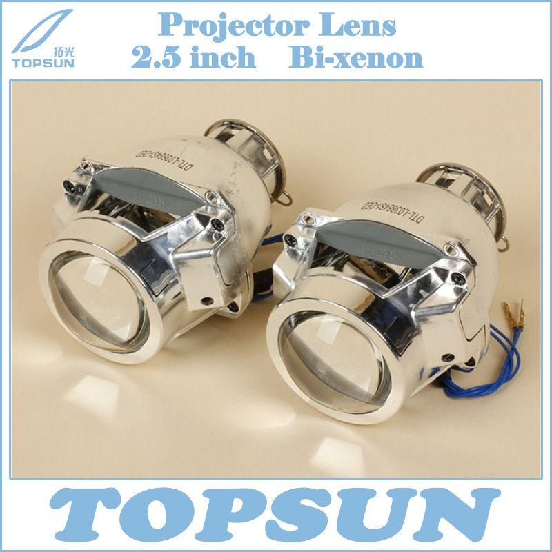 Chastej Sveta Avtomobilya Stenli Hid Bi Ksenonovye Linzy Proektora 2 5 Dyujmov Dlya D2s I H7 Lampy Projector Lens Car Lights Lens