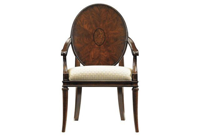 Inspriation For Sitting Room A Pair Avalon Heights Starburst Arm Chair In Dark Woodtone