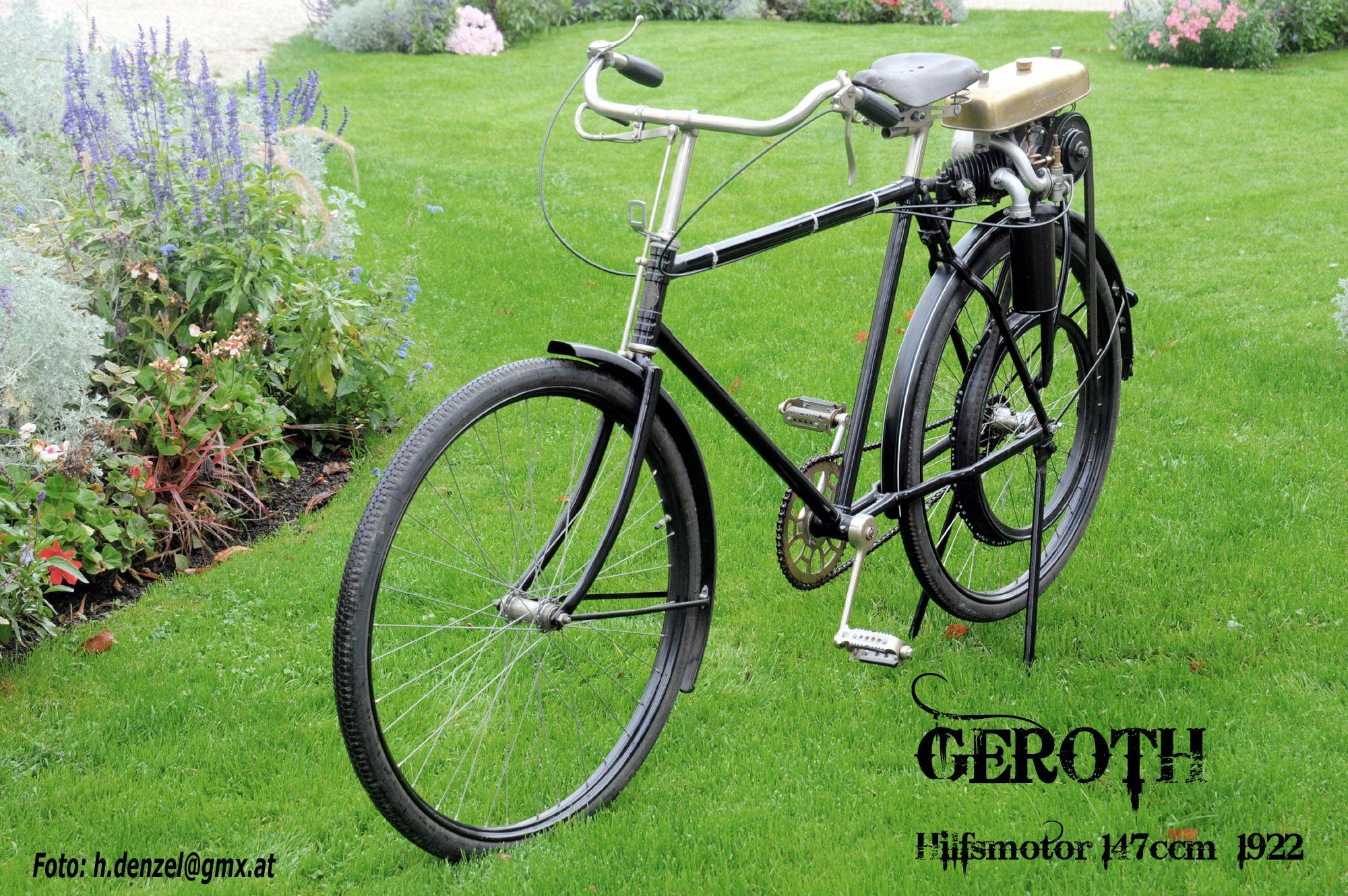 geroth hilfsmotor 147ccm 1922 benzinradl 39 n pinterest motor motorrad und oldtimer. Black Bedroom Furniture Sets. Home Design Ideas