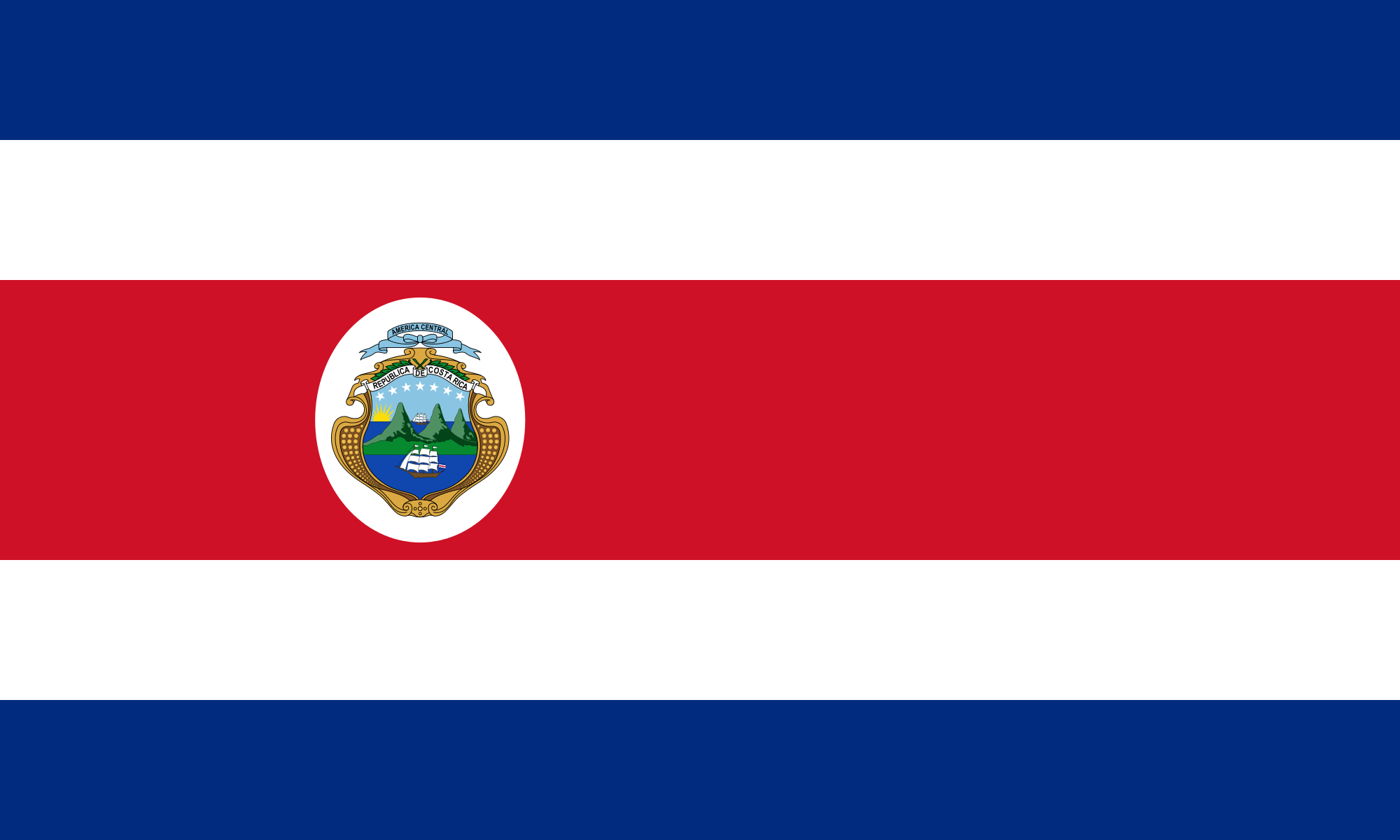 File State Flag Of Costa Rica 1964 1998 Png Wikimedia Commons Costa Rica Flag Costa Rican Flag Costa Rica