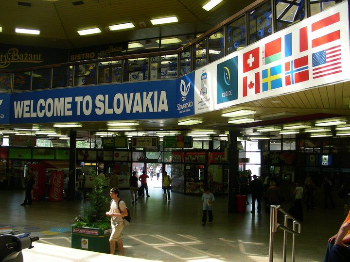 Main Railway Station in Bratislava, Slovakia