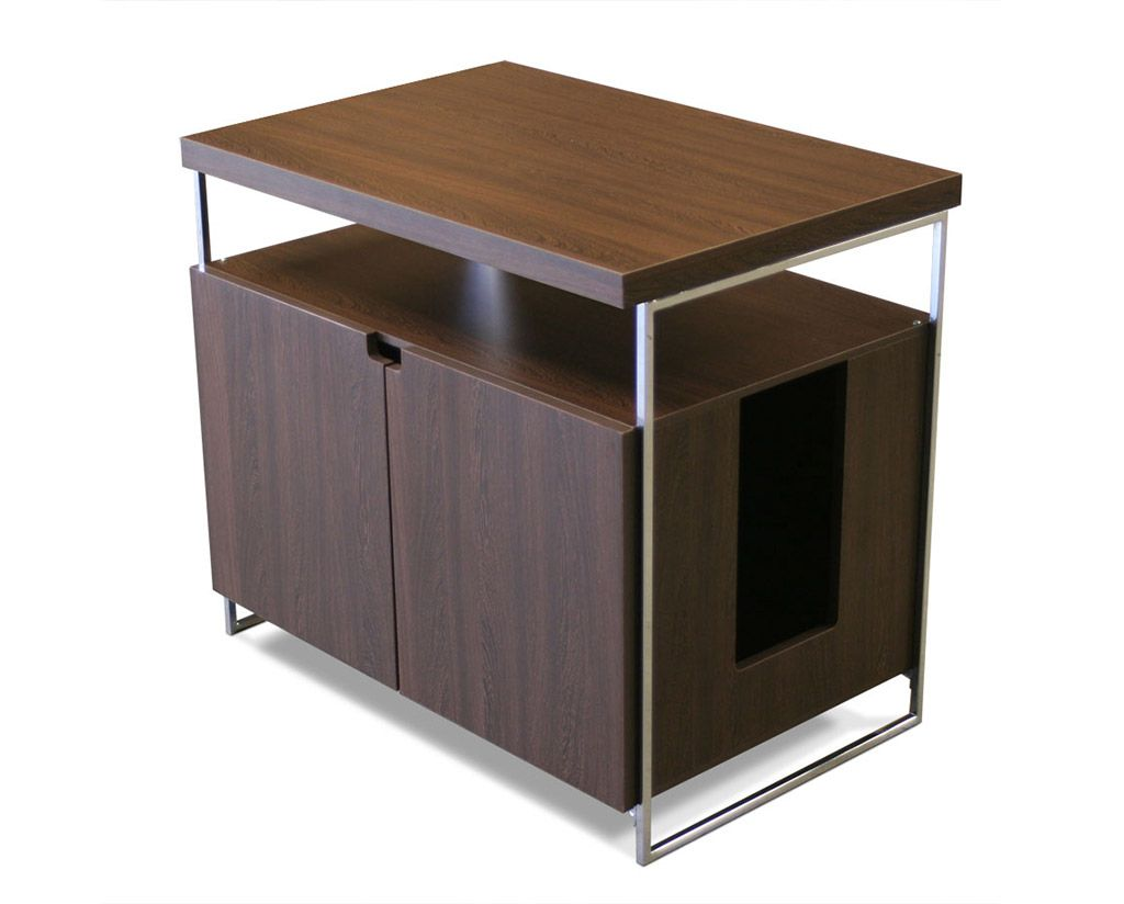 Yet It S Hard To Find Litter Box Furniture That Will Accommodate Larger Bo This Cabinet Is Designed Do Just Hide Your Cat