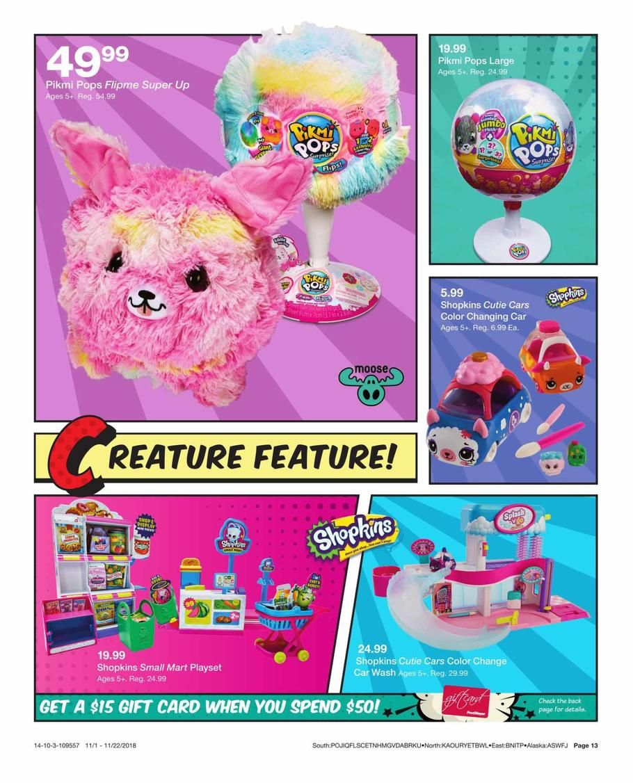 Fred Meyer Toy Books 2018 Ads and Deals Shopkins cutie