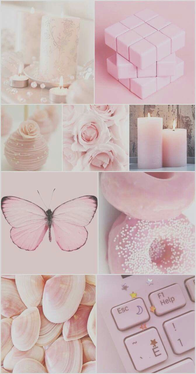 Pink Collage Mood Board In 2019 Pink Wallpaper Pink Polka
