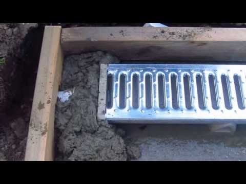 Install A Trench Drain Video 5 Of 7 Youtube Trench Drain Trench Drain Systems Dog Kennel Flooring