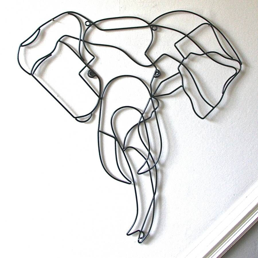 Are You Interested In Our Elephant Wire Wall Art? With Our Elephant  Sculpture You Need