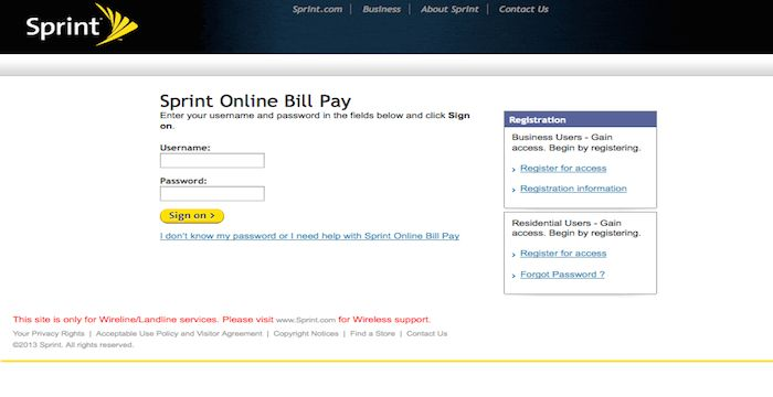 how to pay my sprint phone bill online