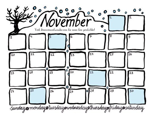 Doc736568 Free Printable Monthly Calendar 25 best ideas about – Free Printable Monthly Calendar