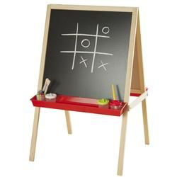 this classic double sided wooden easel lets kids creativity