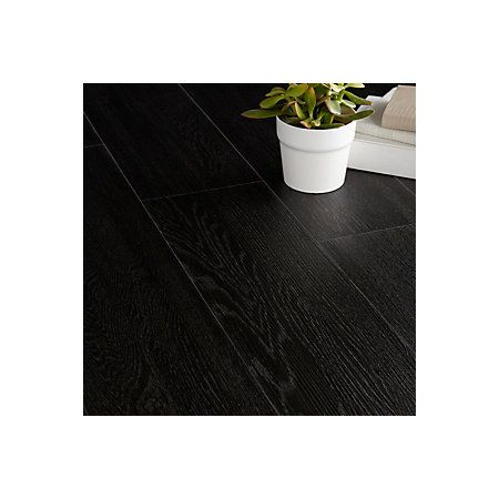 Colours Brown Ebony effect Luxury vinyl click flooring 1.76 m² Pack ...