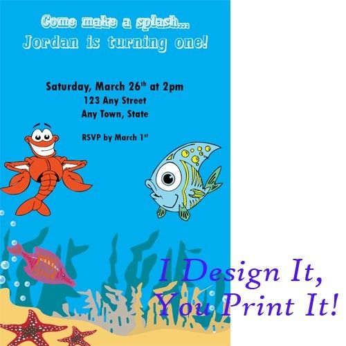 Printable birthday party invitations fish high resolution jpg personalized custom invitations and designs fish themecustom invitationsbirthday filmwisefo Images