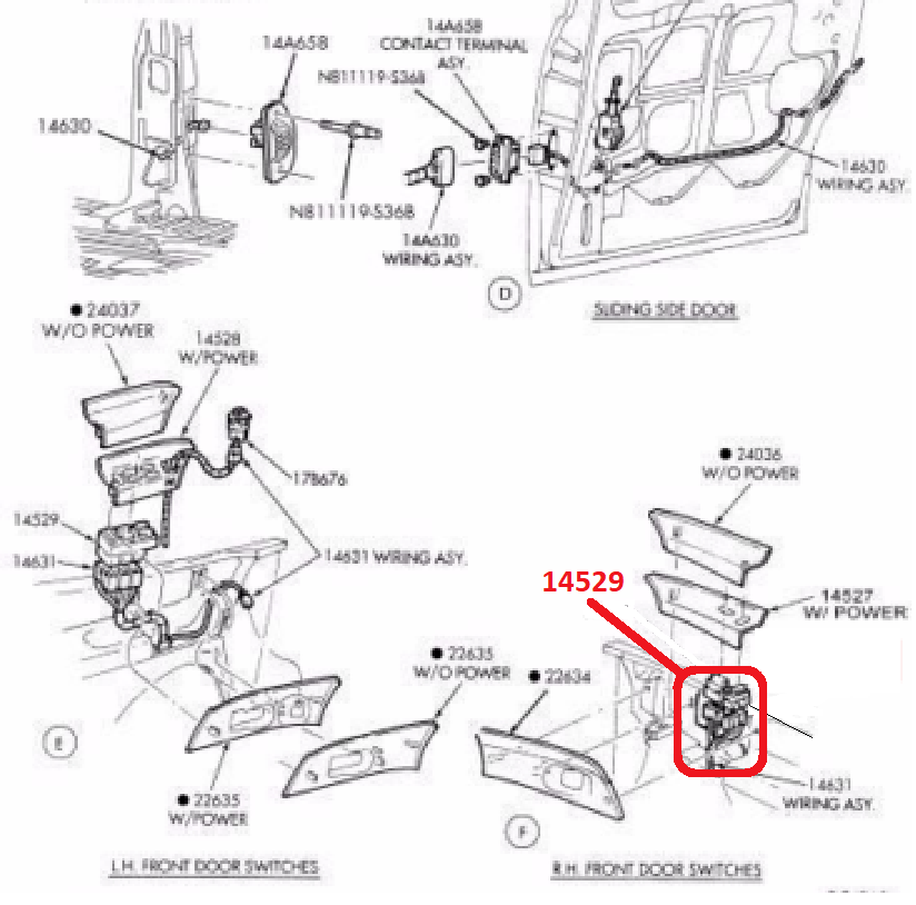 Details about Ford Mercury Lincoln Power Window Switch