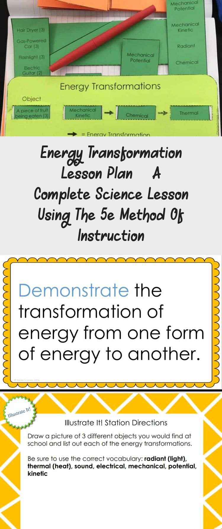 Energy Transformations 5e Lesson Plan Ready To Print And Teach The Entire Energy Unit Interactive Science Notebook Energy Transformations Middle School Science